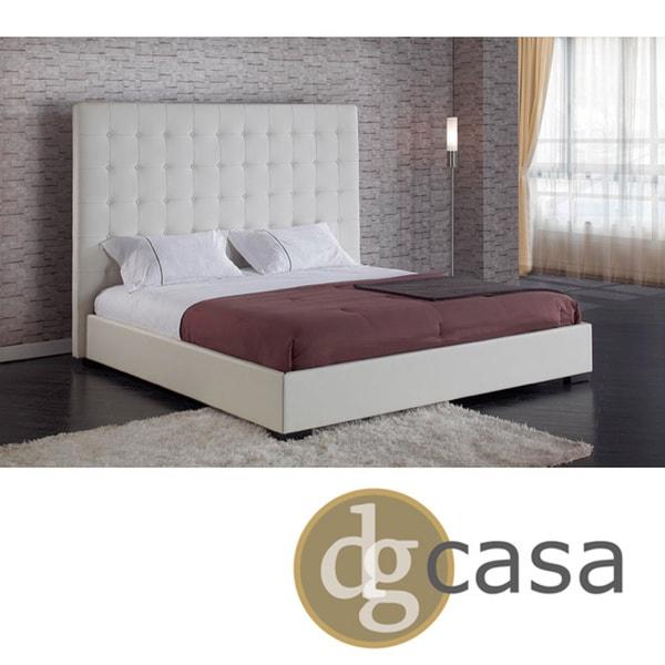 DG Casa Delano White Queen Platform Bed