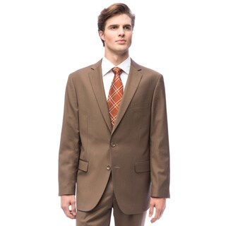 Men's Solid Taupe 2-button Suit