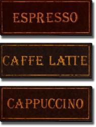 Catherine Jones 'Coffees' 3-piece Unframed Canvas Set - Thumbnail 1