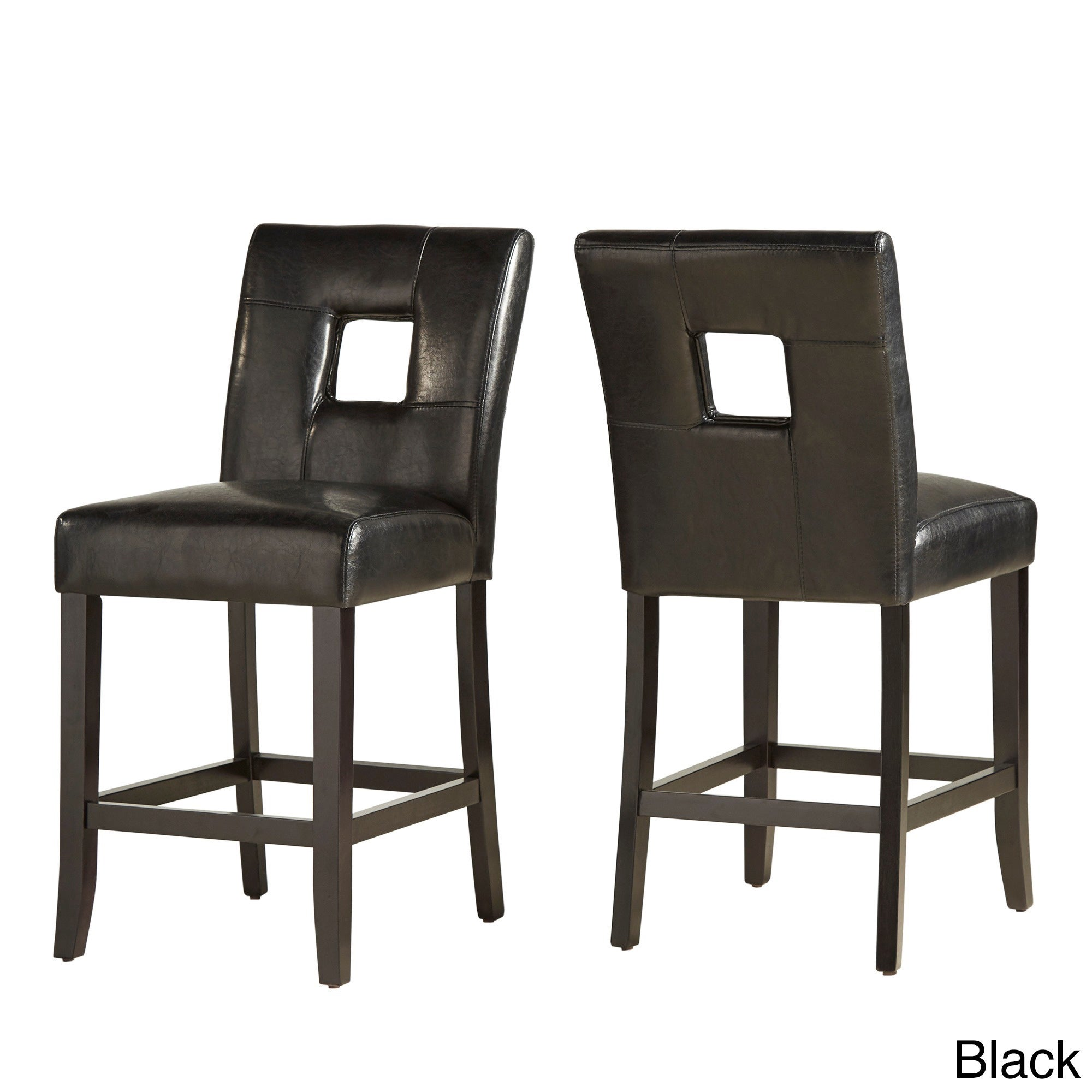 Mendoza Keyhole Counter Height High Back Stool Set Of 2