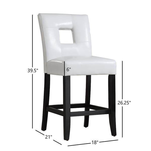 Excellent Shop Mendoza Keyhole Counter Height High Back Stool Set Of Uwap Interior Chair Design Uwaporg