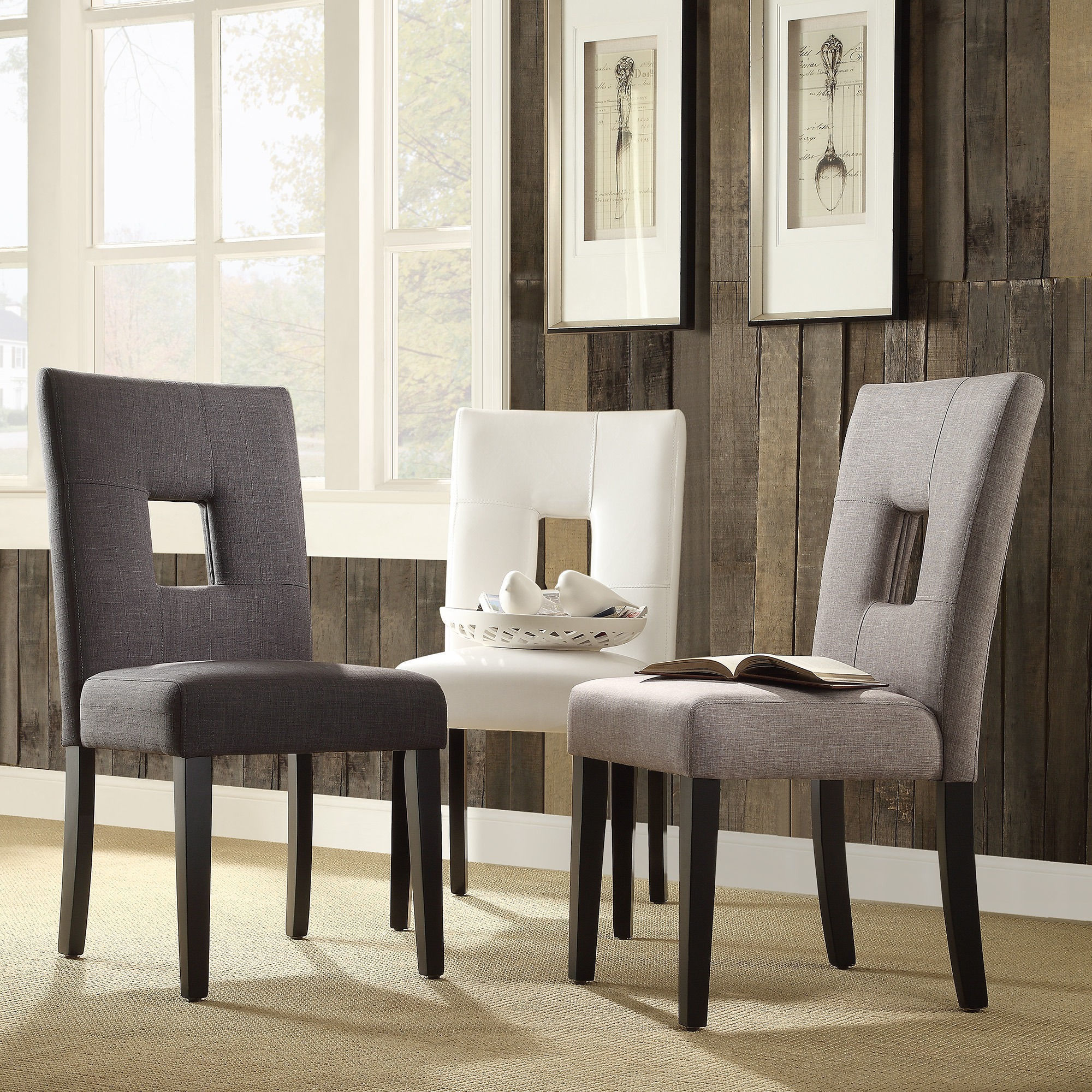 Mendoza Keyhole Back Dining Chairs (Set of 2) by iNSPIRE Q ...