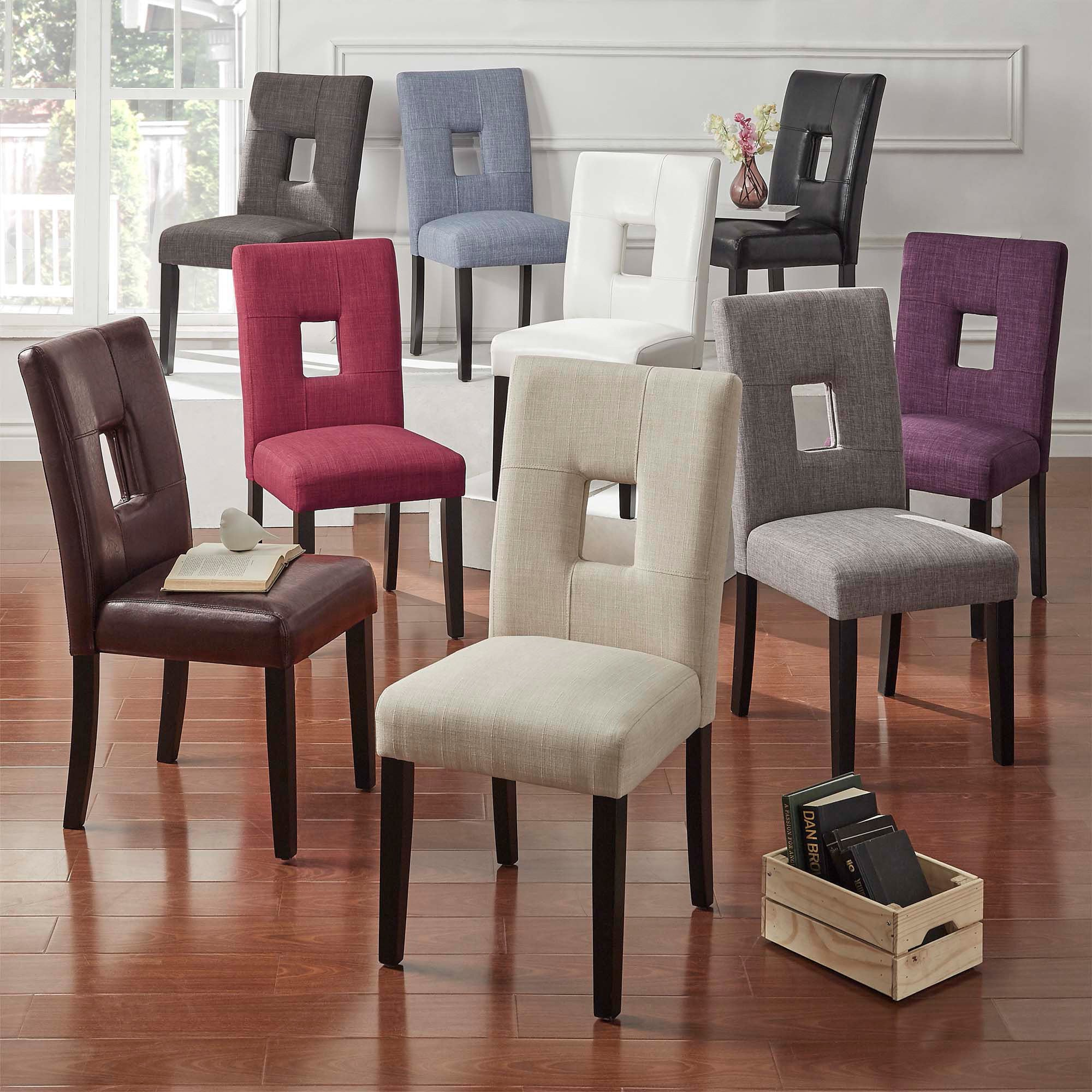 Mendoza Keyhole Back Dining Chairs Set Of 2 By Inspire Q Bold On Sale Overstock 5178479