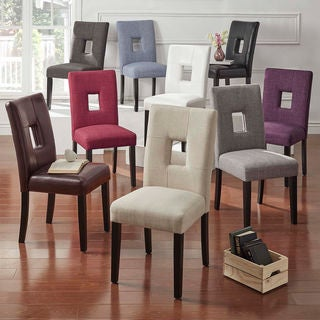 Mendoza Keyhole Back Dining Chairs (Set of 2) by iNSPIRE Q Bold