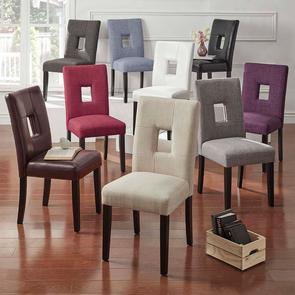 Shop Mendoza Keyhole Back Dining Chairs Set Of 2 By