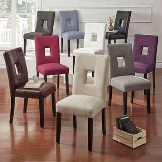 Mendoza Keyhole Back Dining Chairs (Set of 2) by iNSPIRE Q Bold (2 options available)