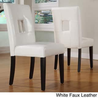 Magnificent Buy White Leather Kitchen Dining Room Chairs Online At Machost Co Dining Chair Design Ideas Machostcouk