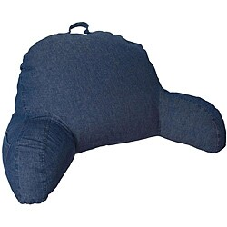 Indigo Denim Feather Filled Bed Rest