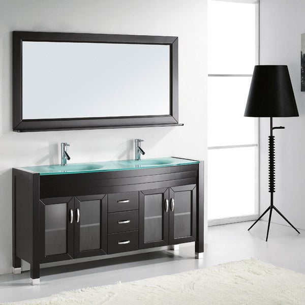 Virtu Usa Ava 63 Inch Double Sink Bathroom Vanity Set Free Shipping Today