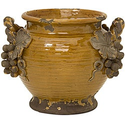 Handcrafted Argento Ceramic Vineyard Planter