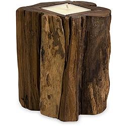 Handcrafted Regent Medium Teakwood Candle