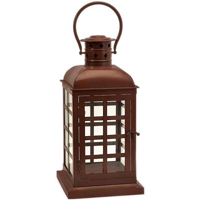 Argento English Telephone Booth Candle Lantern