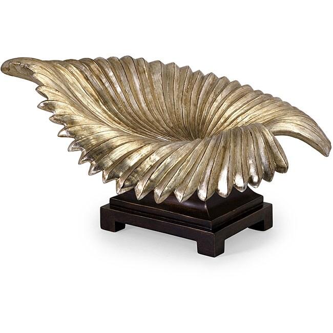 Handcrafted Argento Palm Leaf Bowl