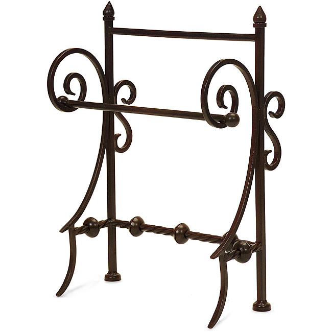 Shop wrought iron old spanish mission towel holder free - Wrought iron towel racks bathroom ...