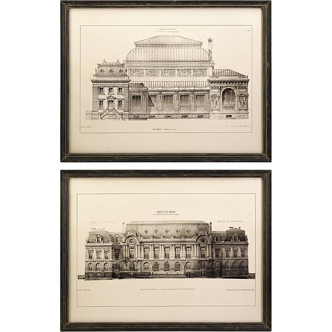 Set of 2 Bordeaux Argento Framed Wall Prints