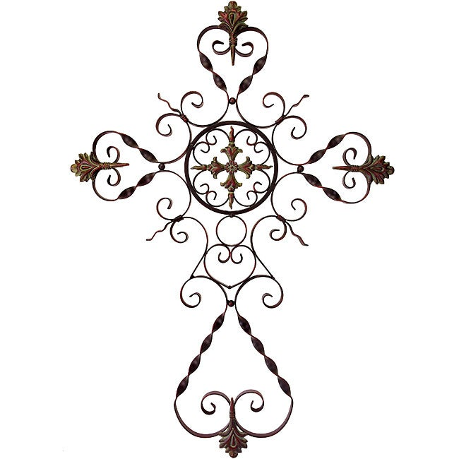 Provence Filigree Metal Wall Cross