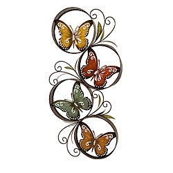 High Quality Metal Colorful Butterfly Wall Decor