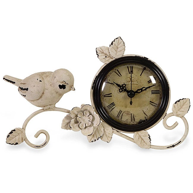 Handcrafted Americana Feathered Friends Tabletop Clock