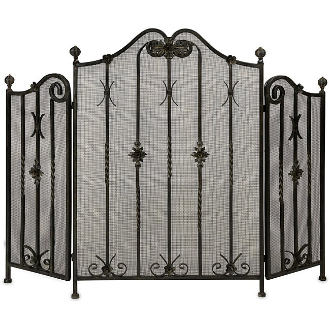 Handcrafted Regent Metal Henry VI Fireplace Screen - Thumbnail 0