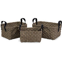 Set of 3 Regent Sailor Baskets with Handles