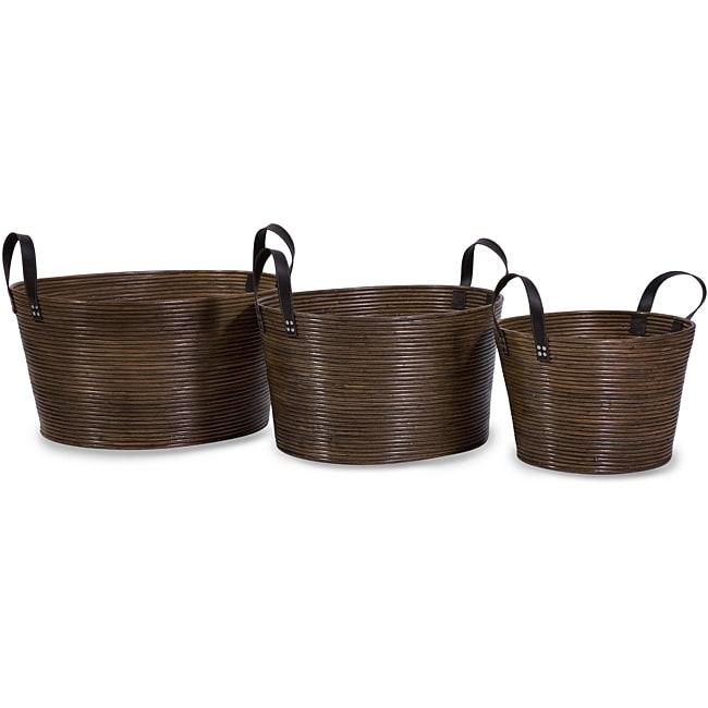 Set of 3 Delhi Coil Baskets