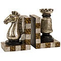 Set of 2 Argento Checkmate Bookends