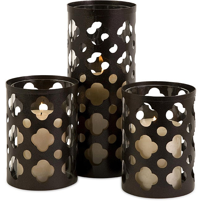 Set of 3 Ningbo Polka Dots and Clouds Candle Holders