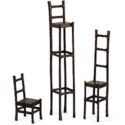 Set of 3 Old Spanish Mission Display Chairs