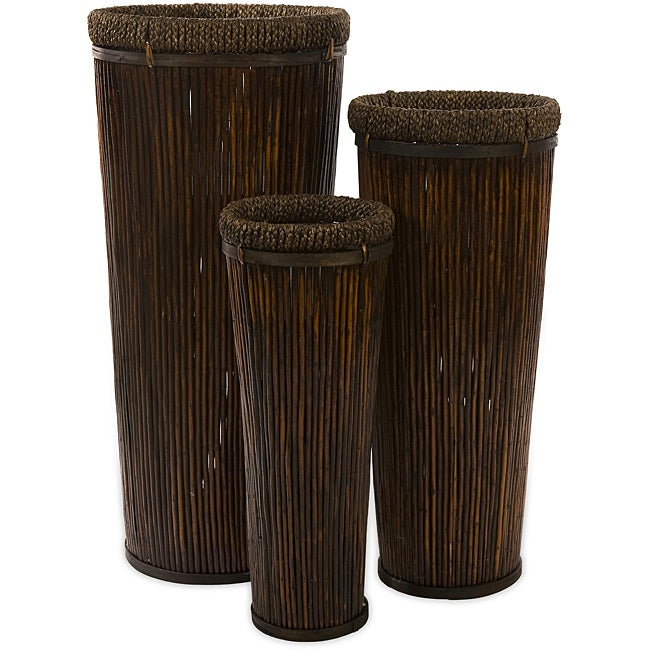 Set of 3 Willow Americana Jamestown Tall Baskets