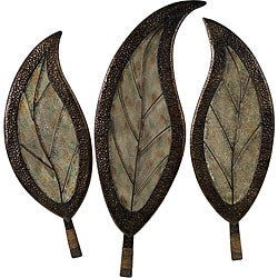 set of 3 infinity leaf design wall decor free shipping. Black Bedroom Furniture Sets. Home Design Ideas
