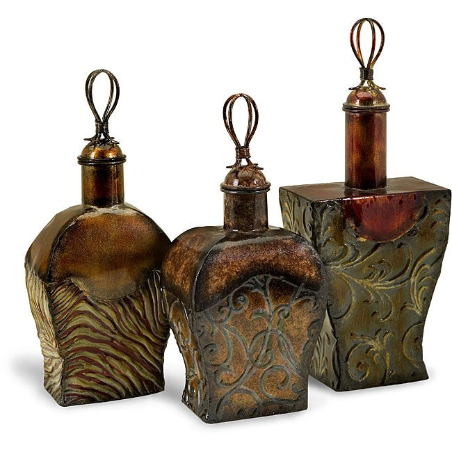 Set of 3 Iron Venice Potion Bottles