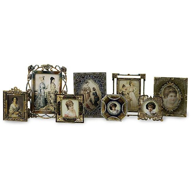 Set of 8 Victorian Crowne Jewel Vintage Frames