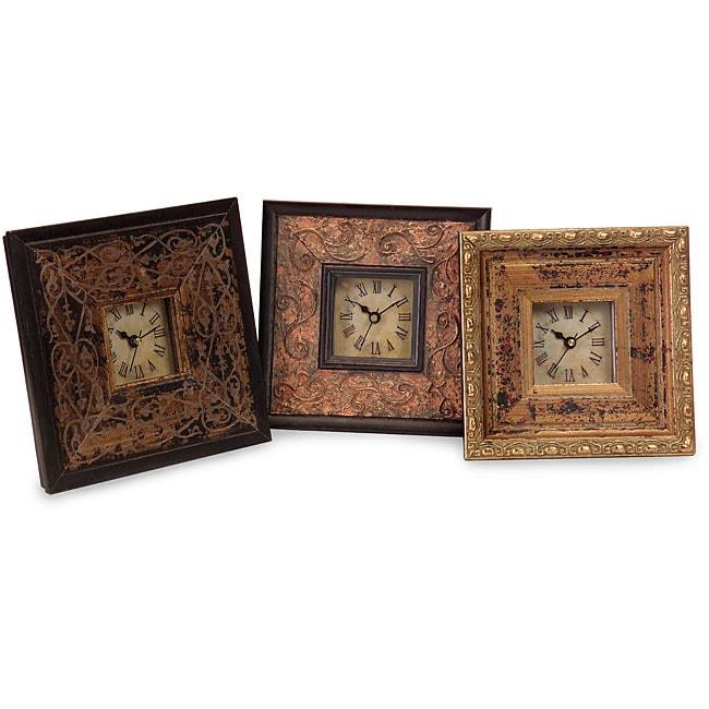 Set of 3 Venice-style a Tiempo Framed Clocks