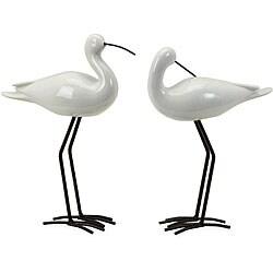 Ceramic 2-piece Coastal Birds - Thumbnail 0