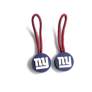 New York Giants Zipper Pull Charm Luggage/ Pet ID Tags (Set of 2