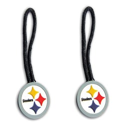 Pittsburgh Steelers Zipper Pull Charm Luggage/ Pet ID Tags (Set of 2) - Thumbnail 0