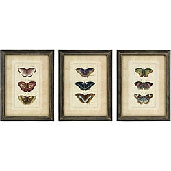 MDF 3 Butterfly Drawings Framed Art