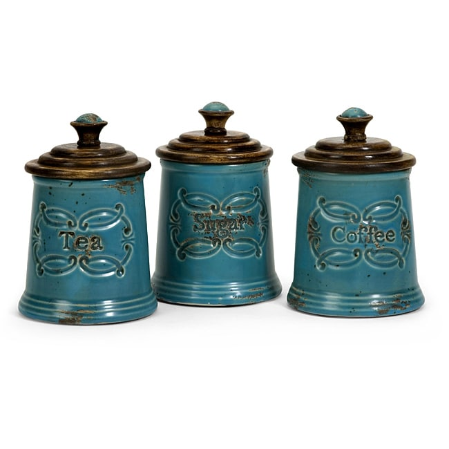Set of 3 Country Kitchen Canisters