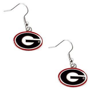 Georgia Bulldogs Dangle Logo Earrings