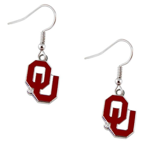Oklahoma Sooners Dangle Logo Earrings