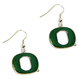 Oregon Ducks Dangle Logo Earrings