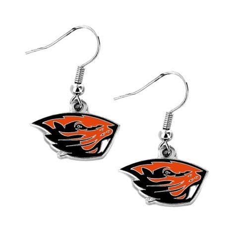 Oregon State Beavers Dangle Logo Earrings