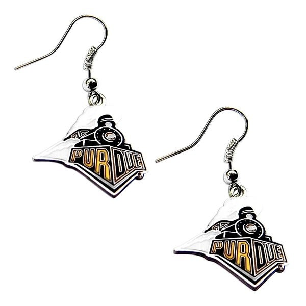 Purdue Boilermakers Dangle Logo Earrings