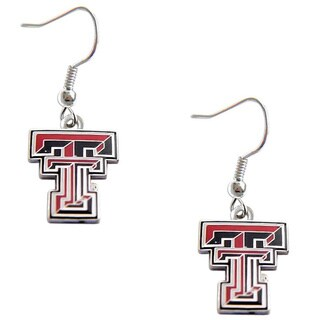 Texas Tech Raiders Dangle Logo Earrings