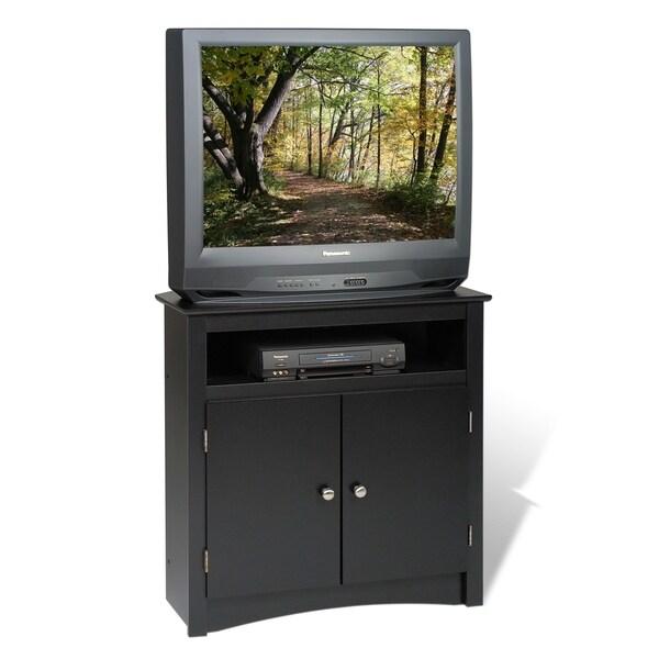 """Prepac Tall Corner TV Cabinet, Black - 32"""" W x 32"""" H x 21"""" D"""