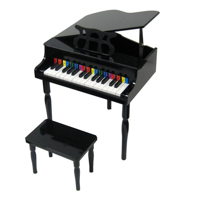 Shop Child S Black Baby Grand Piano Free Shipping Today
