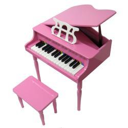 Child's Pink Baby Grand Piano