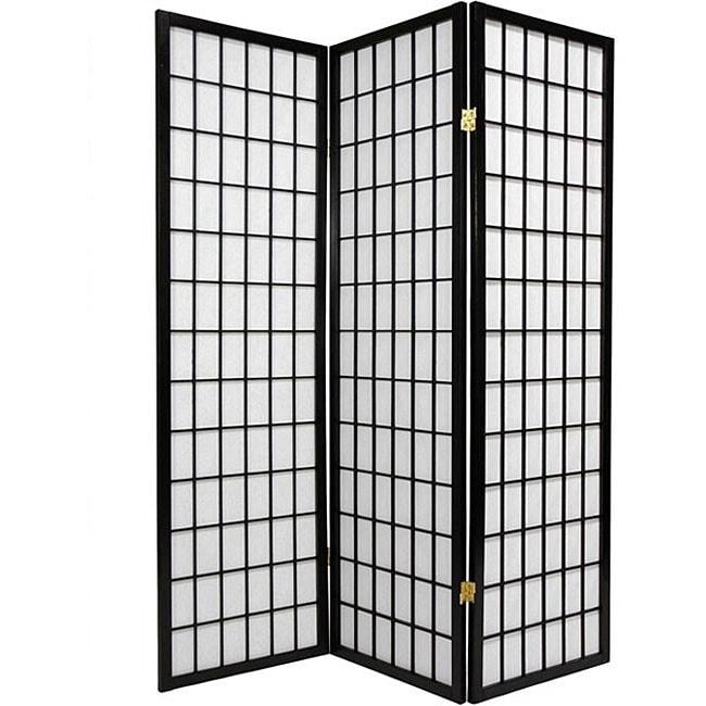 oriental shoji 3panel black room divider screen