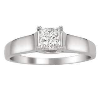 Montebello 14k White Gold 1/4ct TDW Certified Princess Cut Diamond Ring|https://ak1.ostkcdn.com/images/products/5182516/5182516/14k-White-Gold-1-4ct-TDW-Certified-Princess-Cut-Diamond-Ring-H-I-I1-P13018362.jpg?impolicy=medium