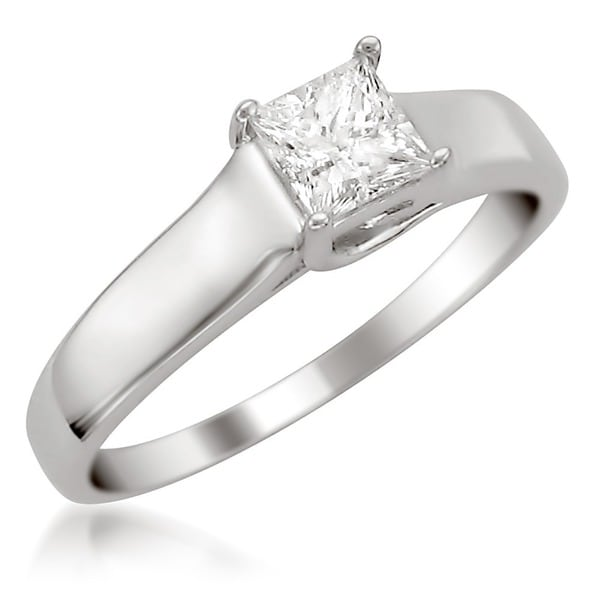 Montebello 14KT Gold 1/2ct TDW Certified Diamond Solitaire Engagement Ring